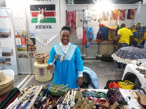 Το περίπτερο της Κένυας στο Χριστουγεννιάτικο Παζάρι
